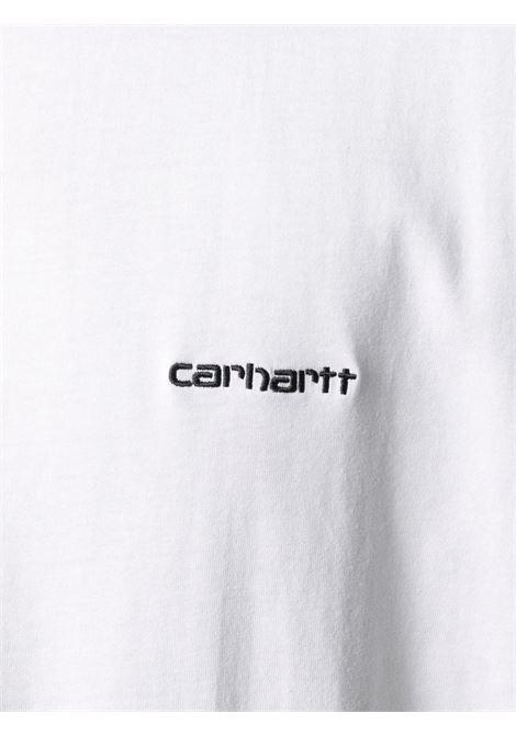t-shirt con logo uomo bianca in cotone CARHARTT WIP | T-shirt | I02577800A.XX
