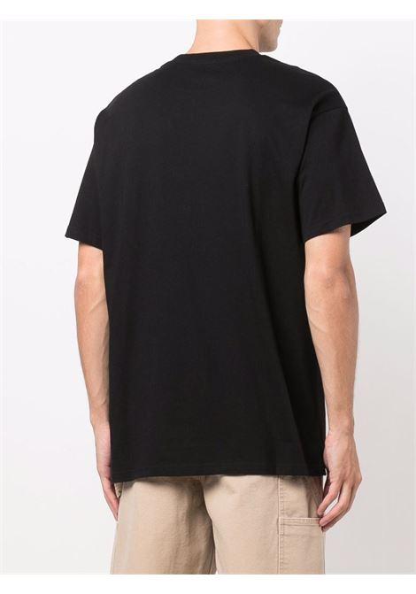 t-shirt con logo uomo nera in cotone CARHARTT WIP | T-shirt | I0257780D2.XX