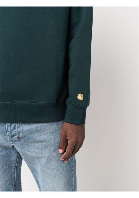crewneck sweatshirt man dark green in cotton CARHARTT WIP | Sweatshirts | I0263830JJ.XX