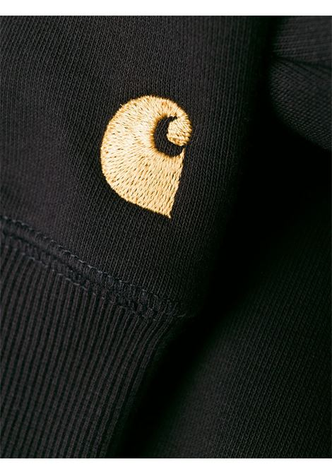 logo sweater man black in cotton CARHARTT WIP | Sweatshirts | I026383.89.90