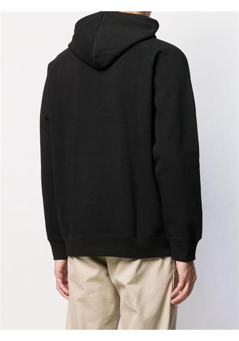 hooded chase sweat man black in cotton CARHARTT WIP | Sweatshirts | I02638400F.XX
