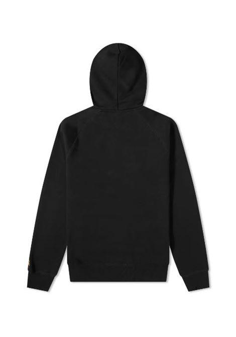 felpa con cappuccio uomo nera in cotone CARHARTT WIP | Felpe | I02638400F.XX