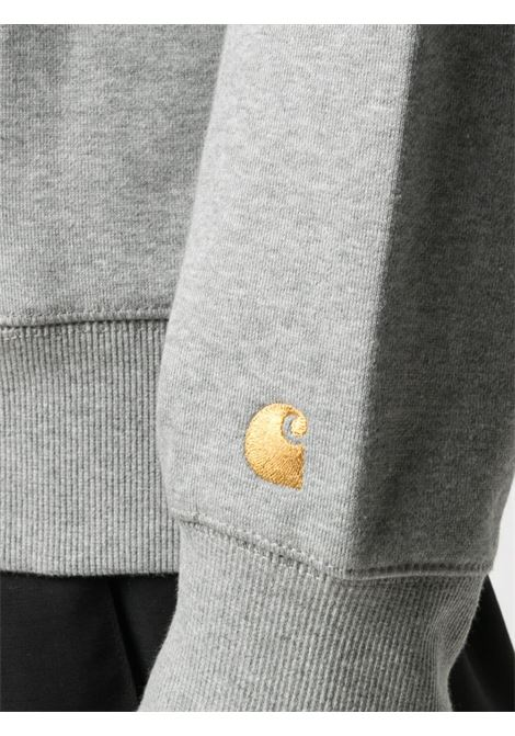 felpa con cappuccio uomo grigia in cotone CARHARTT WIP | Felpe | I02638400M.XX