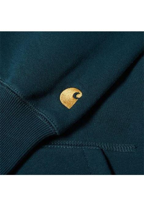 hooded sweatshirt man dark green in cotton CARHARTT WIP | Sweatshirts | I0263840JJ.XX
