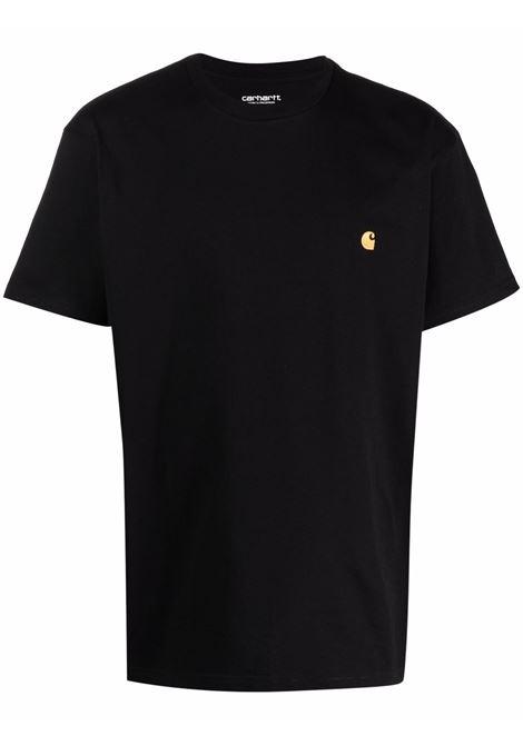 logo t-shirt man black in cotton CARHARTT WIP | T-shirts | I02639100F.XX