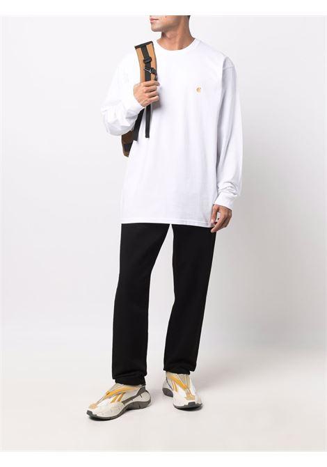 long sleeves t-shirt man white in cotton CARHARTT WIP | T-shirts | I02639200R.XX