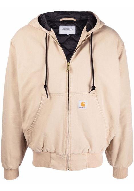 og active jacket man beige in cotton CARHARTT WIP | Jackets | I02736007E.3K