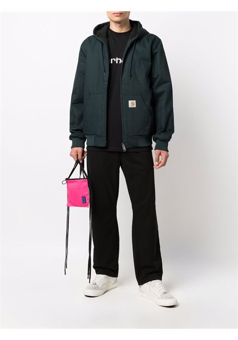 active jacket man dark green in cotton CARHARTT WIP | Jackets | I0284260EL.01