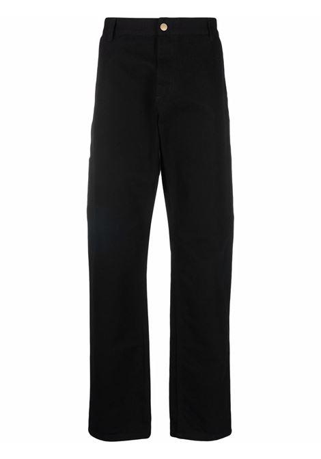 ruck single knee pants man black in cotton CARHARTT WIP | Trousers | I02862489.02