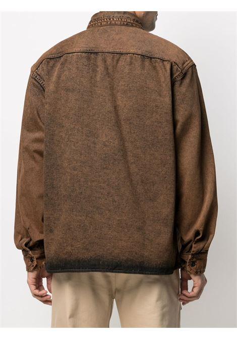 reno shirt jacket man brown in cotton CARHARTT WIP | Shirts | I0291550EP.ZF