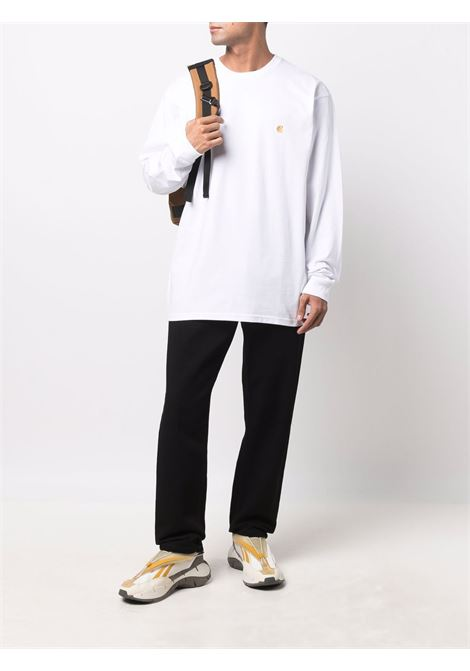 pantaloni newel uomo neri in cotone CARHARTT WIP | Pantaloni | I02920889.2Y