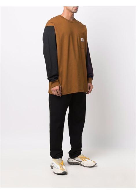 t-shirt a manica lunga uomo marrone in cotone CARHARTT WIP | T-shirt | I0295930IF.XX