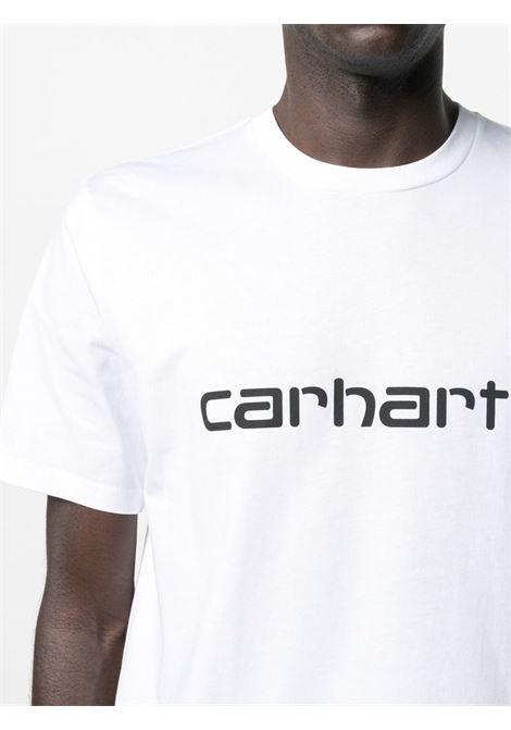 logo t-shirt man white in cotton CARHARTT WIP | T-shirts | I02991500A.XX