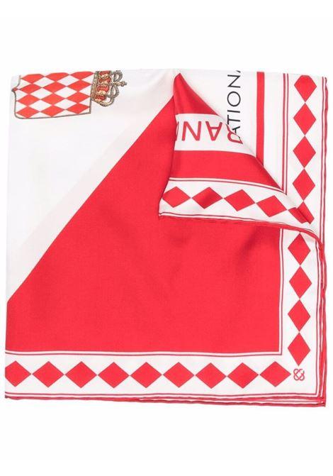 foulard in seta unisex bianco e rosso CASABLANCA | Sciarpe | AF21-ACC-016CASABLANCA 100'S