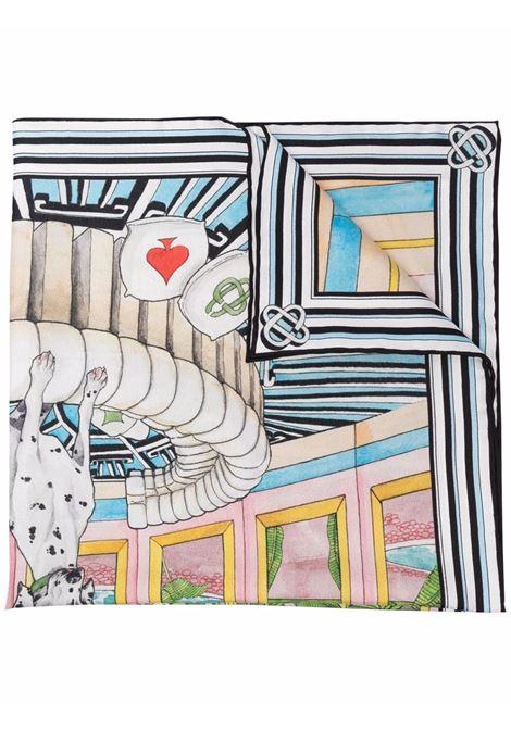 foulard in seta unisex multicolor CASABLANCA | Sciarpe | AF21-ACC-016DREAM HOUSE