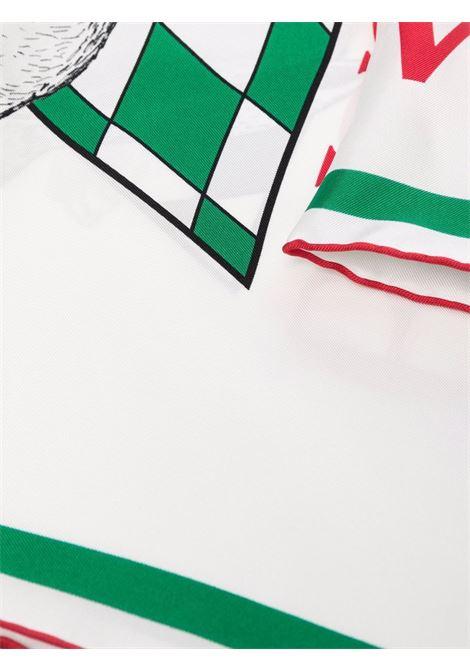 silk scarf unisex white CASABLANCA      AF21-ACC-016RABBIT