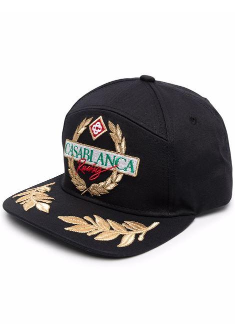 racing twill cap man black in cotton CASABLANCA | Hats | AF21-HAT-008BLACK CASABLANCA RACING