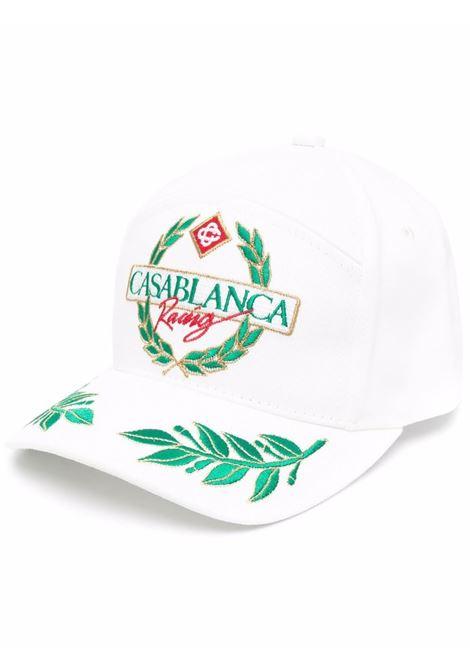 racing twill cap man white in cotton CASABLANCA | Hats | AF21-HAT-008OFF WHITE CASABLANCA RACING