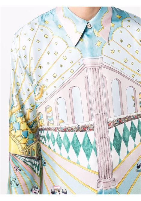 camicia la course ideale uomo multicolor in seta CASABLANCA | Camicie | MF21-SH-021LA COURSE IDEALE