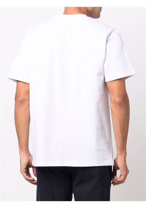 logo t-shirt man white in cotton CASABLANCA | T-shirts | MF21-TS-001WHITE CASA SPORT RED