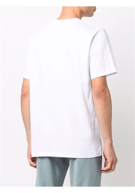 white monaco t-shirt man white in cotton CASABLANCA | T-shirts | MF21-TS-001WHITE MONACO