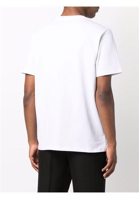 racing shell t-shirt man white in cotton CASABLANCA | T-shirts | MF21-TS-001WHITE RACING SHELL