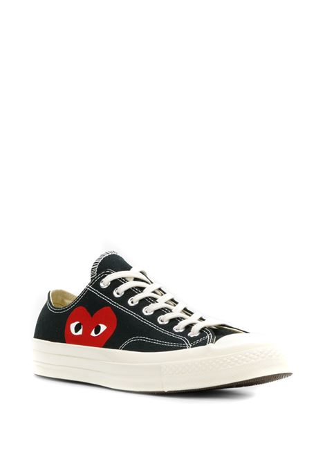 low play sneakers unisex black in canvas COMME DES GARÇONS PLAY X CONVERSE | Sneakers | P1K1111