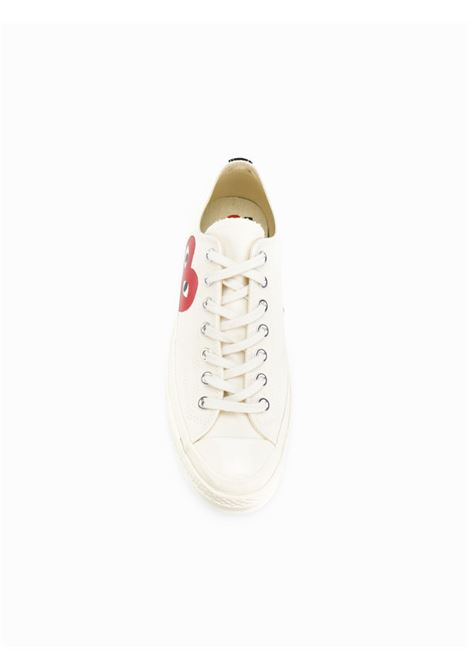 sneakers play basse unisex bianche in tela COMME DES GARÇONS PLAY X CONVERSE | Sneakers | P1K1112