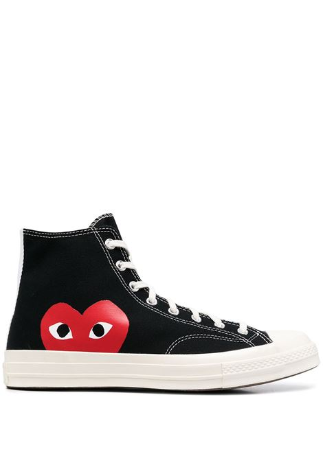 sneakers play unisex nere in tela COMME DES GARÇONS PLAY X CONVERSE | Sneakers | P1K1121