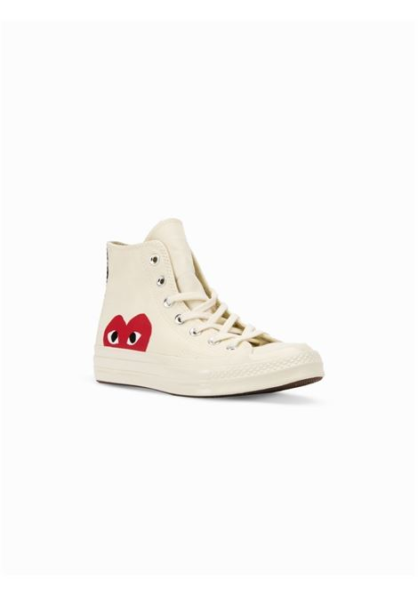 sneakers play unisex bianche in tela COMME DES GARÇONS PLAY X CONVERSE | Sneakers | P1K1122