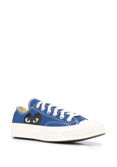 big heart low top sneakers unisex blue COMME DES GARÇONS PLAY X CONVERSE | Sneakers | P1K1212