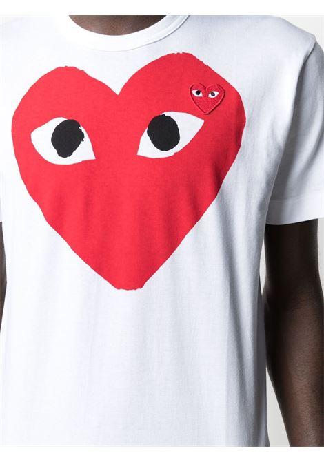 play t-shirt man white in cotton COMME DES GARÇONS PLAY | T-shirts | P1T026A