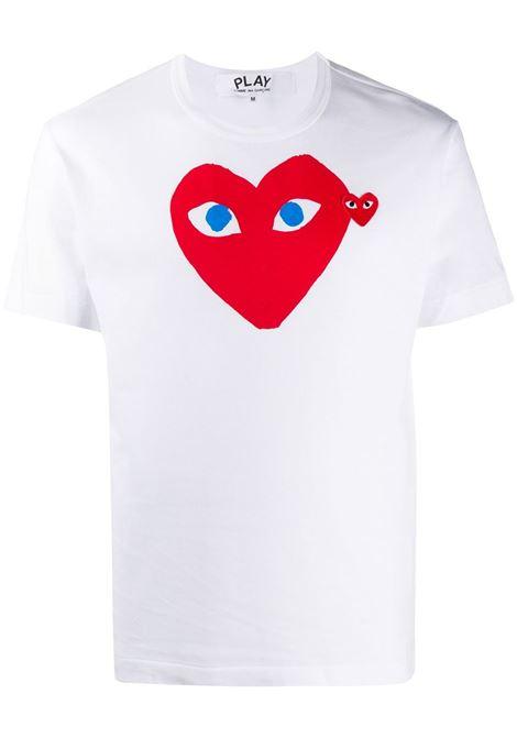 play t-shirt man white in cotton COMME DES GARÇONS PLAY | T-shirts | P1T0861