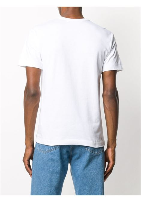play t-shirt man white in cotton COMME DES GARÇONS PLAY   T-shirts   P1T0861