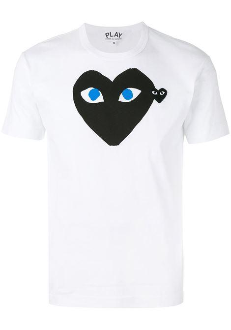 t-shirt play uomo bianca in cotone COMME DES GARÇONS PLAY | T-shirt | P1T0881