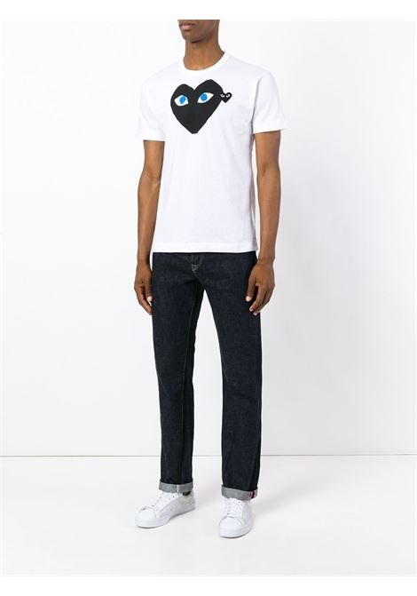 play t-shirt man white in cotton COMME DES GARÇONS PLAY   T-shirts   P1T0881