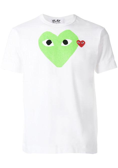t-shirt play uomo bianca in cotone COMME DES GARÇONS PLAY | T-shirt | P1T1063