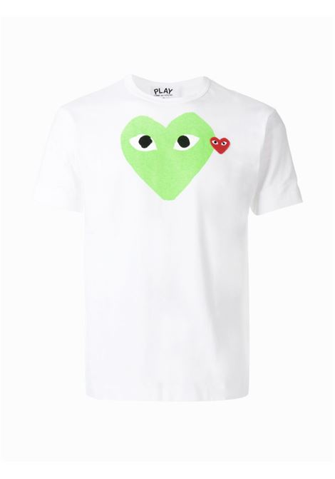 play t-shirt man white in cotton COMME DES GARÇONS PLAY | T-shirts | P1T1063