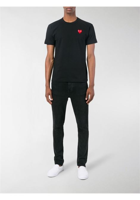 play t-shirt man black in cotton COMME DES GARÇONS PLAY | T-shirts | P1T1081