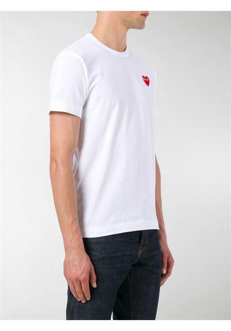 play t-shirt man white in cotton COMME DES GARÇONS PLAY | T-shirts | P1T1082