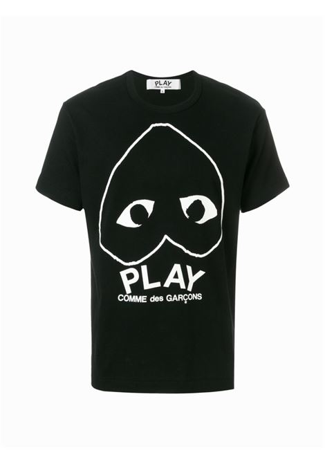 t-shirt play uomo nera in cotone COMME DES GARÇONS PLAY | T-shirt | P1T1141