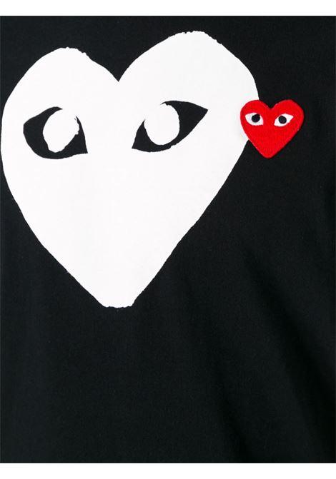 t-shirt play uomo nera in cotone COMME DES GARÇONS PLAY | T-shirt | P1T1161