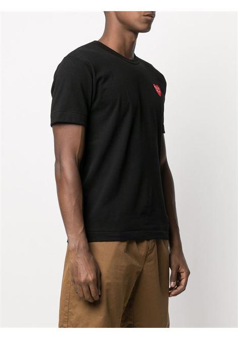 play t-shirt man black in cotton COMME DES GARÇONS PLAY   T-shirts   P1T2881