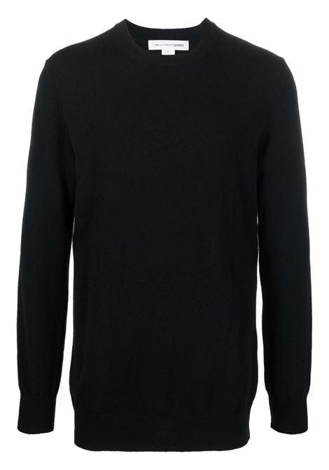 maglione a girocollo uomo nero in lana COMME DES GARÇONS SHIRT | Maglieria | FH-N003-W211