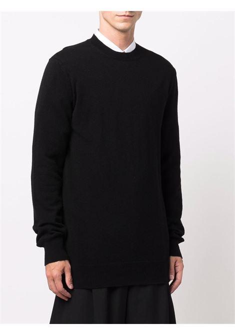 crew neck sweater man black in wool COMME DES GARÇONS SHIRT | Sweaters | FH-N003-W211