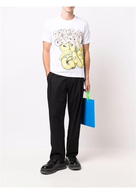 t-shirt con stampa uomo bianca in cotone COMME DES GARÇONS SHIRT   T-shirt   FH-T005-W211