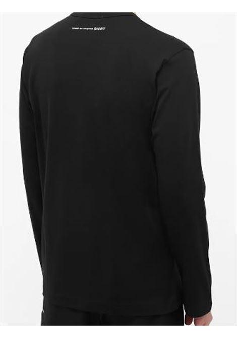 t-shirt a maniche lunghe uomo nera in cotone COMME DES GARÇONS SHIRT   T-shirt   FH-T012-W211