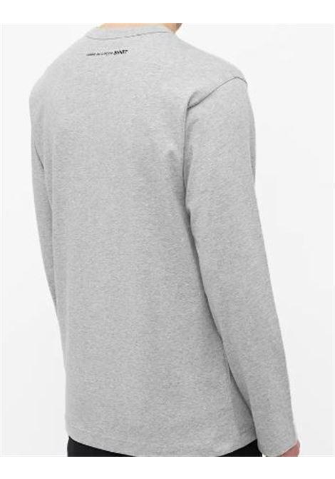 t-shirt a maniche lunghe uomo grigia in cotone COMME DES GARÇONS SHIRT | T-shirt | FH-T012-W212