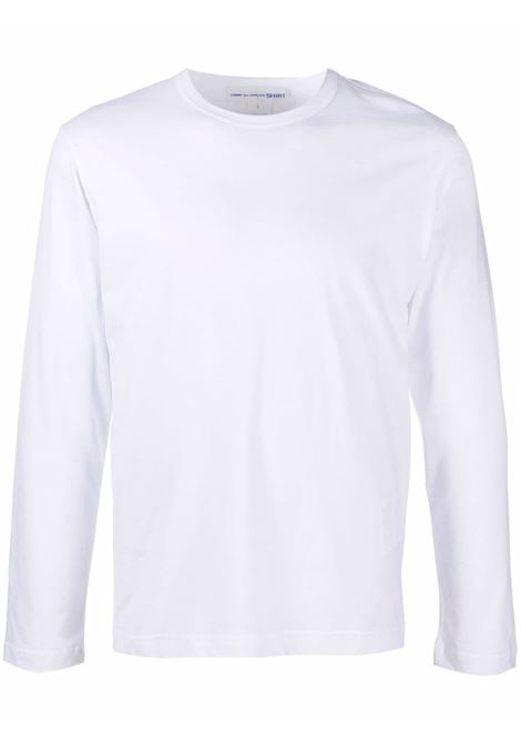 t-shirt a maniche lunghe uomo bianca in cotone COMME DES GARÇONS SHIRT | T-shirt | FH-T012-W213