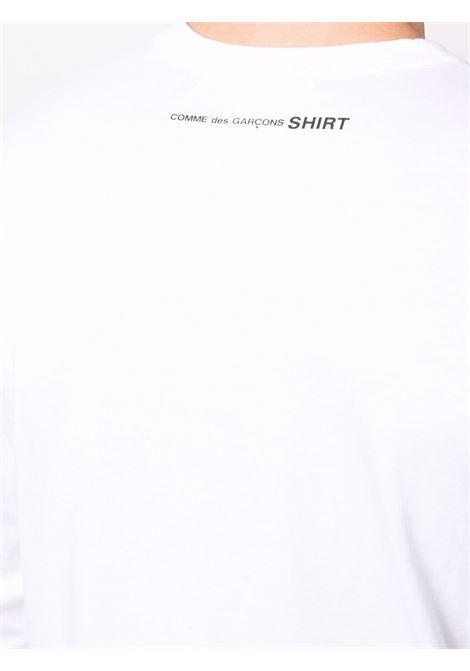 long sleeves t-shirt man white in cotton COMME DES GARÇONS SHIRT   T-shirts   FH-T012-W213